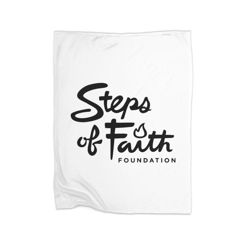 Steps of Faith_Black  Home Fleece Blanket Blanket by Steps of Faith