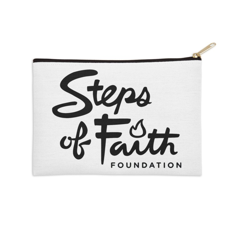 Steps of Faith_Black  Accessories Zip Pouch by stepsoffaith's Artist Shop