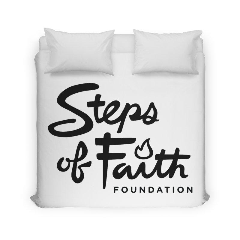 Steps of Faith_Black  Home Duvet by stepsoffaith's Artist Shop