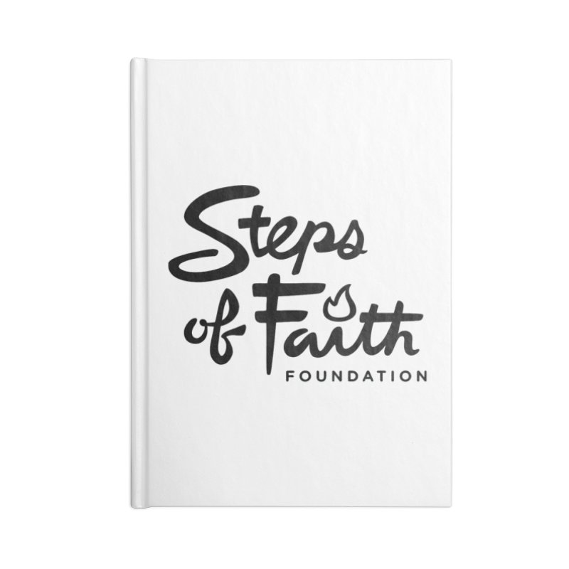Steps of Faith_Black  Accessories Notebook by stepsoffaith's Artist Shop