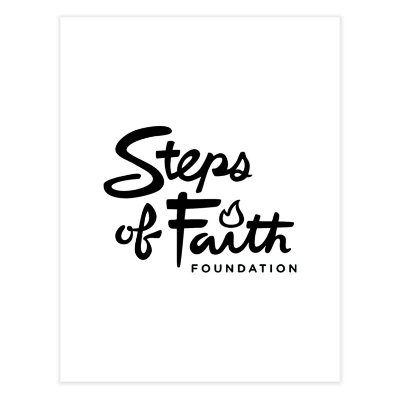 Steps of Faith_Black  Home Fine Art Print by Steps of Faith
