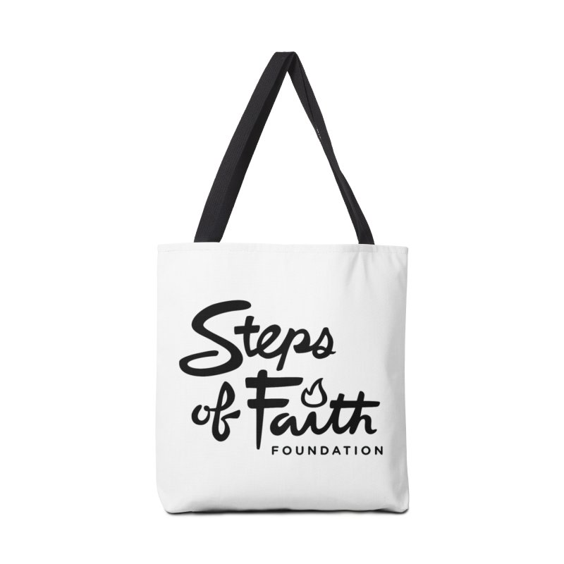 Steps of Faith_Black  Accessories Bag by stepsoffaith's Artist Shop