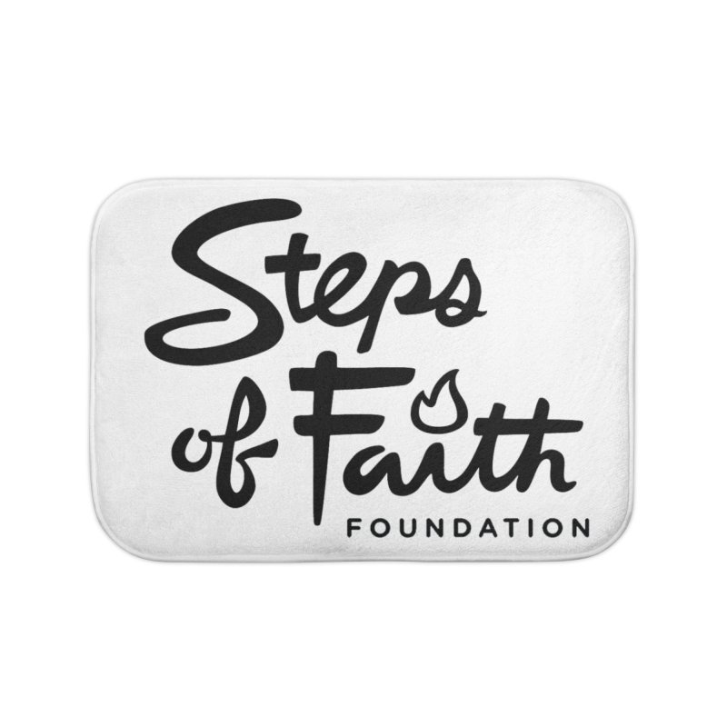 Steps of Faith_Black  Home Bath Mat by stepsoffaith's Artist Shop