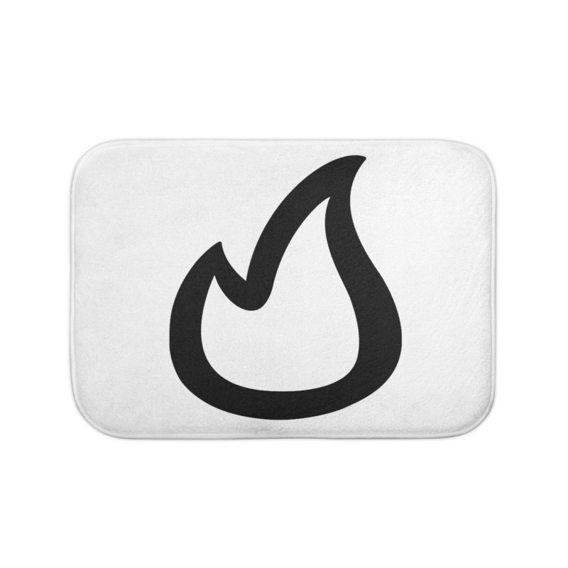 SOFicone Black Home Bath Mat by stepsoffaith's Artist Shop
