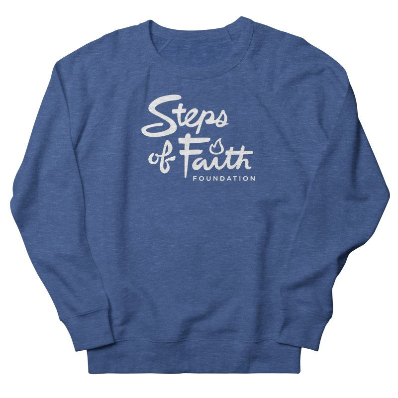 Steps of Faith_White Women's French Terry Sweatshirt by Steps of Faith
