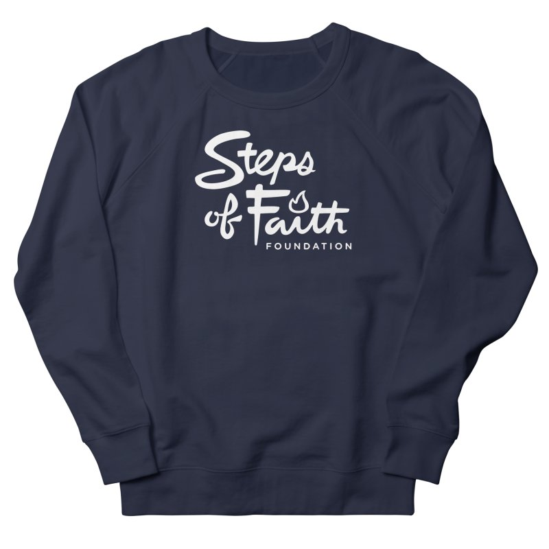 Steps of Faith_White Men's French Terry Sweatshirt by stepsoffaith's Artist Shop