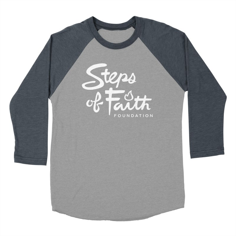 Steps of Faith_White Women's Baseball Triblend Longsleeve T-Shirt by stepsoffaith's Artist Shop