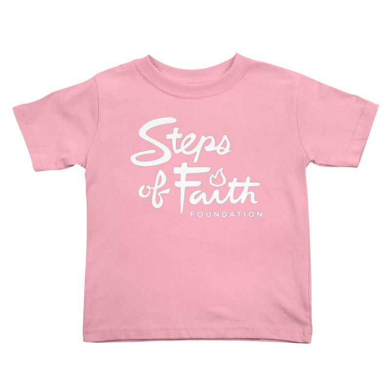 Steps of Faith_White Kids Toddler T-Shirt by Steps of Faith