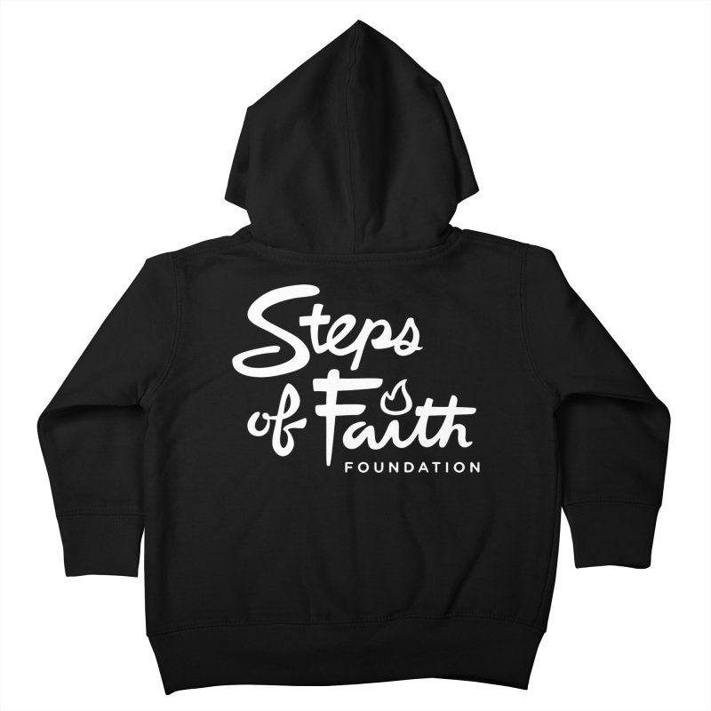 Steps of Faith_White Kids Toddler Zip-Up Hoody by Steps of Faith