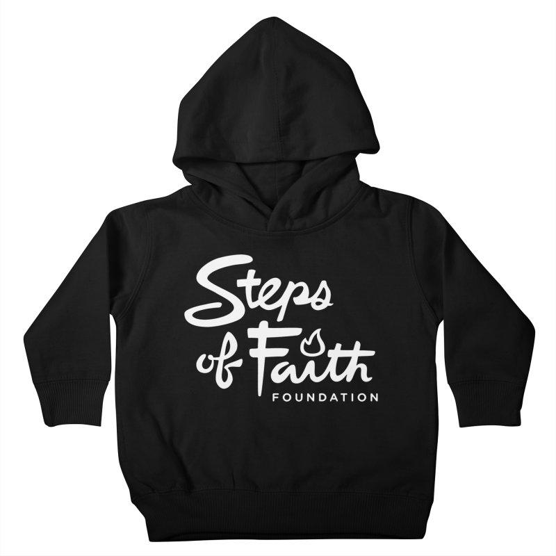 Steps of Faith_White Kids Toddler Pullover Hoody by stepsoffaith's Artist Shop