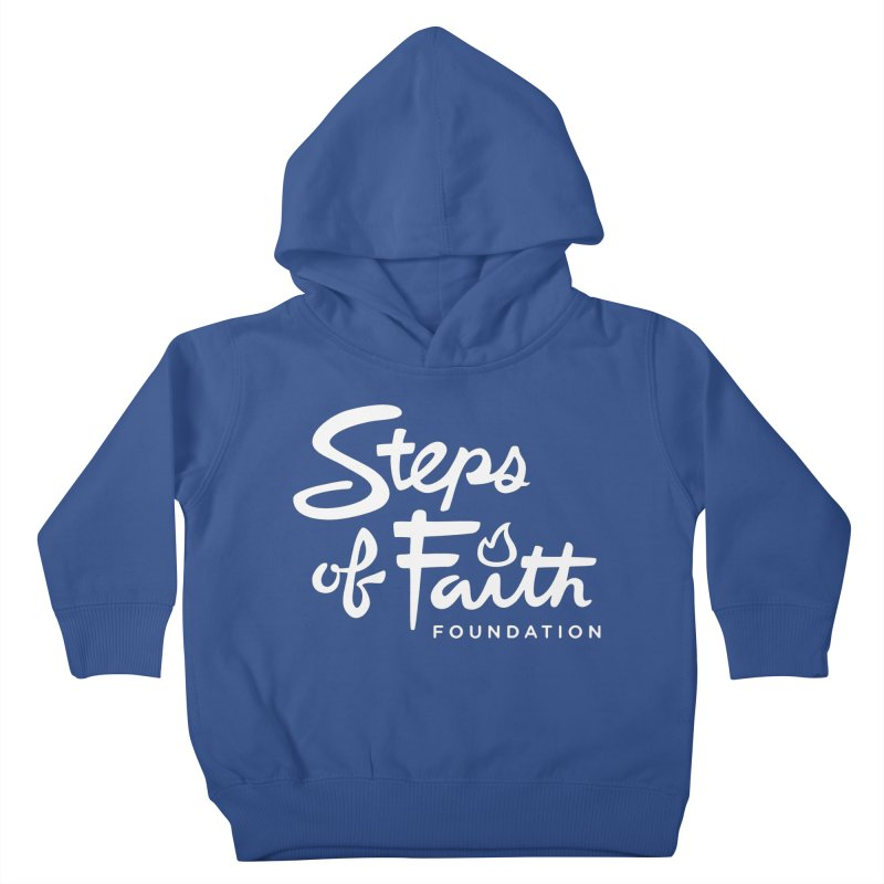 Steps of Faith_White Kids Toddler Pullover Hoody by stepsoffaith's Artist Shop