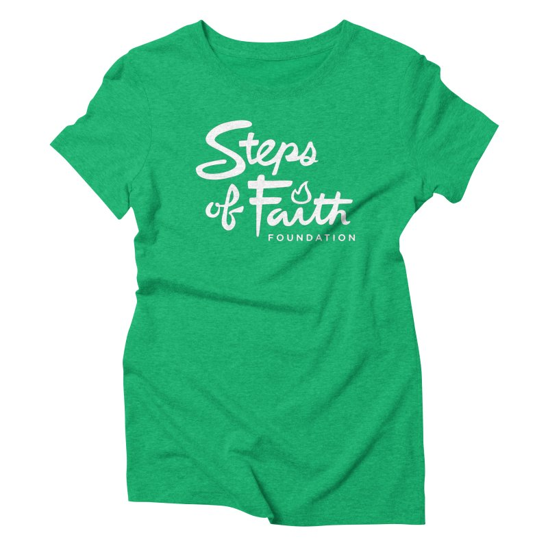 Steps of Faith_White Women's Triblend T-Shirt by stepsoffaith's Artist Shop