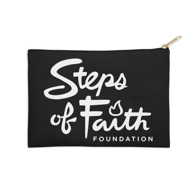 Steps of Faith_White Accessories Zip Pouch by stepsoffaith's Artist Shop