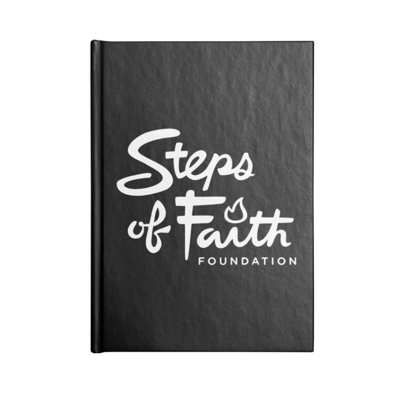 Steps of Faith_White Accessories Notebook by stepsoffaith's Artist Shop