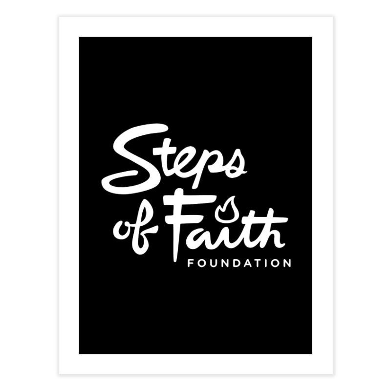 Steps of Faith_White Home Fine Art Print by Steps of Faith