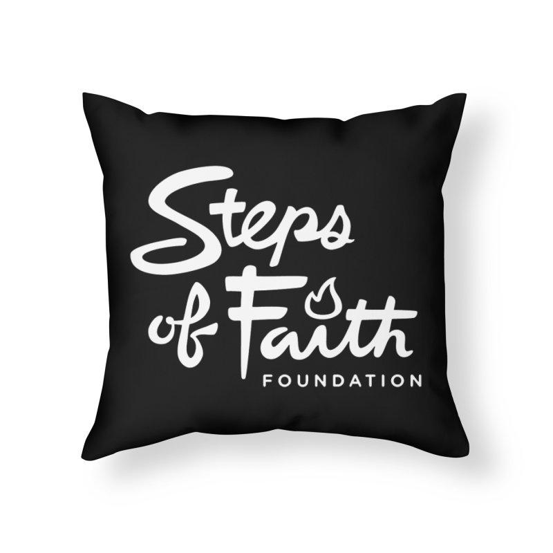 Steps of Faith_White Home Throw Pillow by Steps of Faith