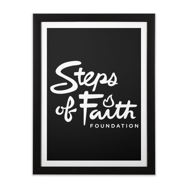 Steps of Faith_White Home Framed Fine Art Print by stepsoffaith's Artist Shop