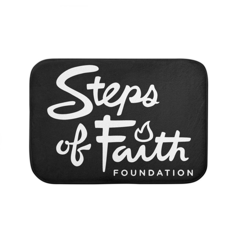 Steps of Faith_White Home Bath Mat by stepsoffaith's Artist Shop