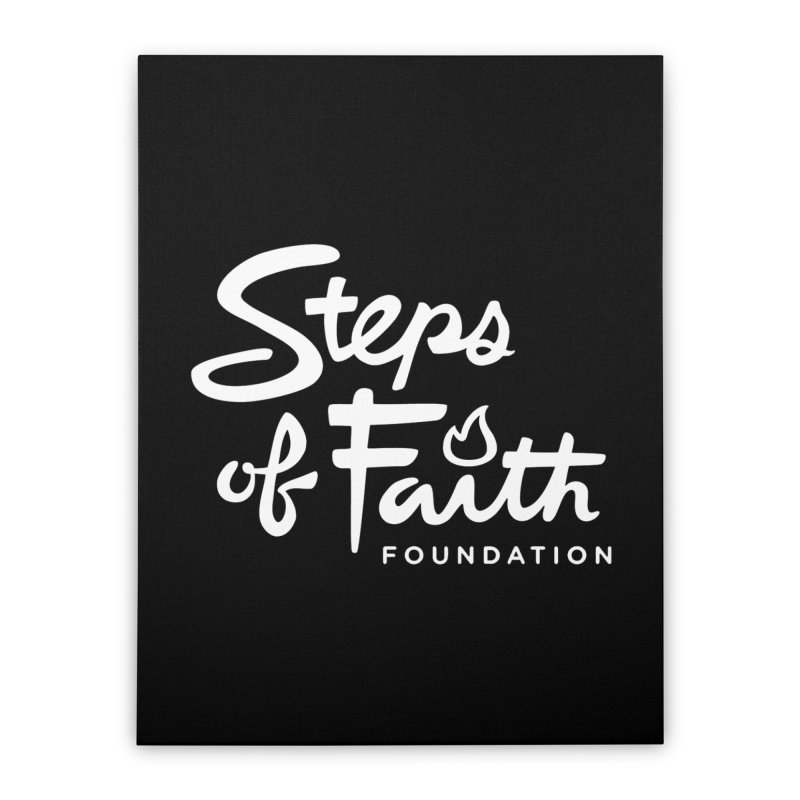 Steps of Faith_White Home Stretched Canvas by stepsoffaith's Artist Shop