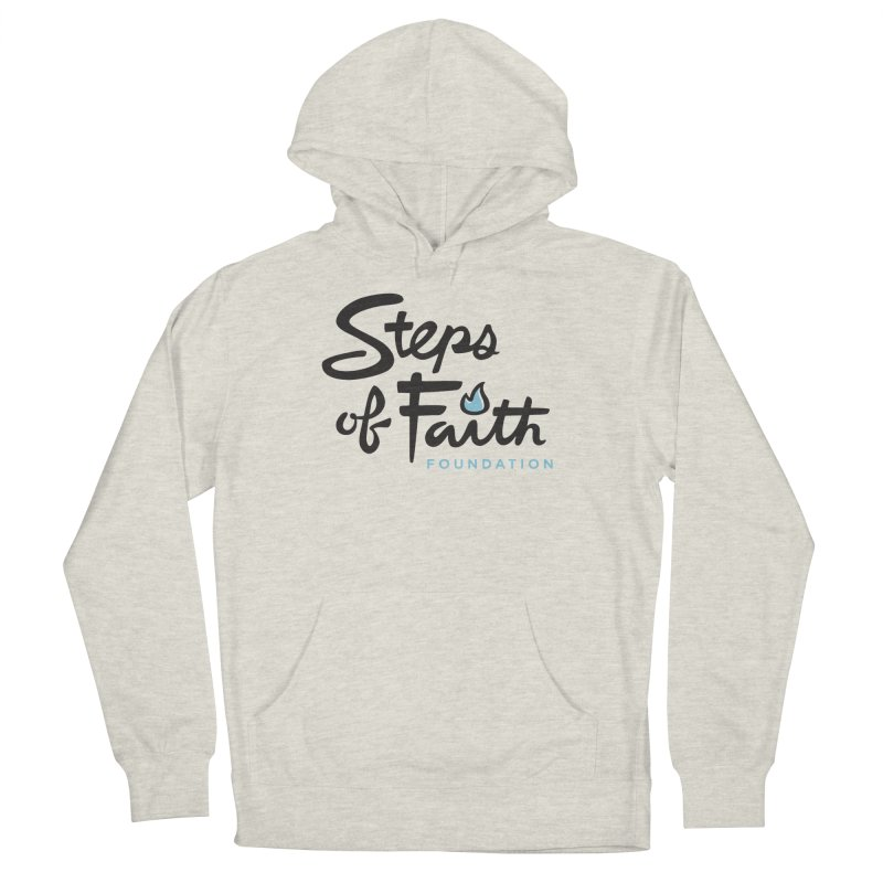 Steps of Faith Logo - Blue Men's French Terry Pullover Hoody by stepsoffaith's Artist Shop