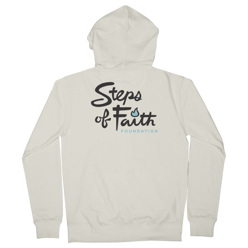 Steps of Faith Logo - Blue Men's French Terry Zip-Up Hoody by Steps of Faith