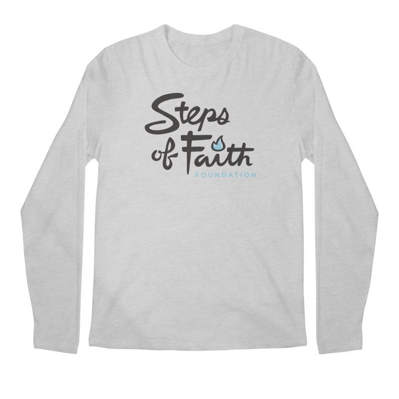 Steps of Faith Logo - Blue Men's Regular Longsleeve T-Shirt by Steps of Faith