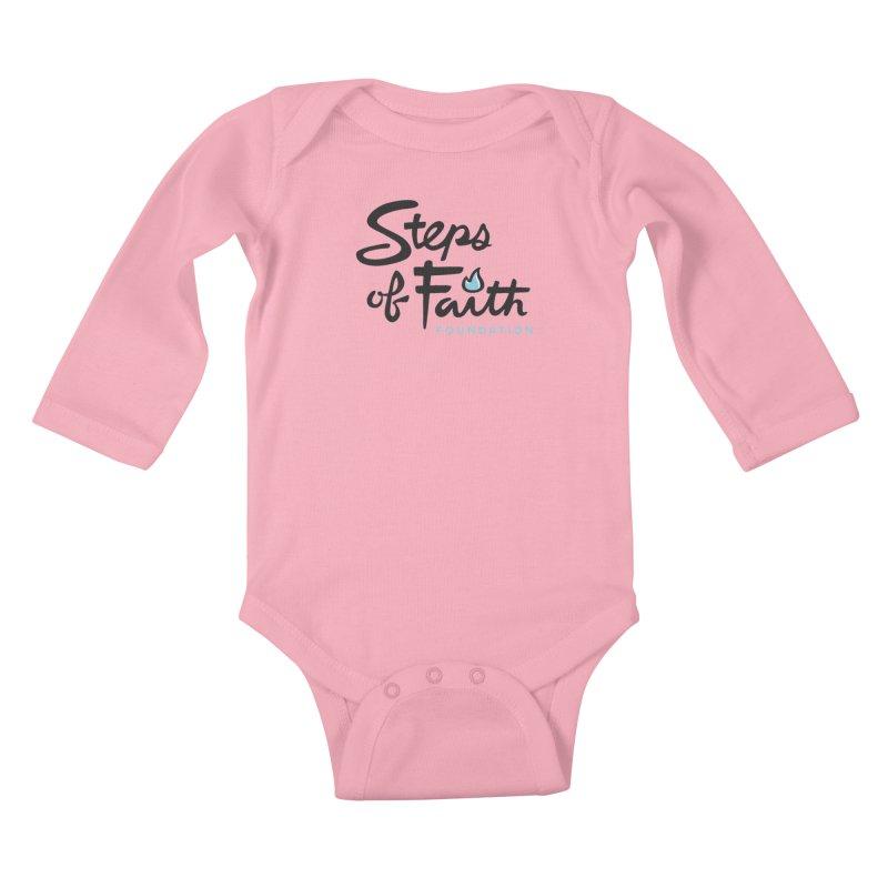 Steps of Faith Logo - Blue Kids Baby Longsleeve Bodysuit by stepsoffaith's Artist Shop