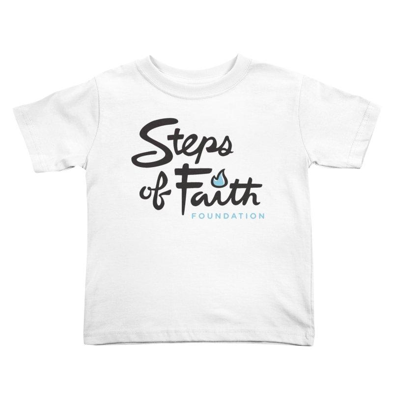 Steps of Faith Logo - Blue Kids Toddler T-Shirt by stepsoffaith's Artist Shop