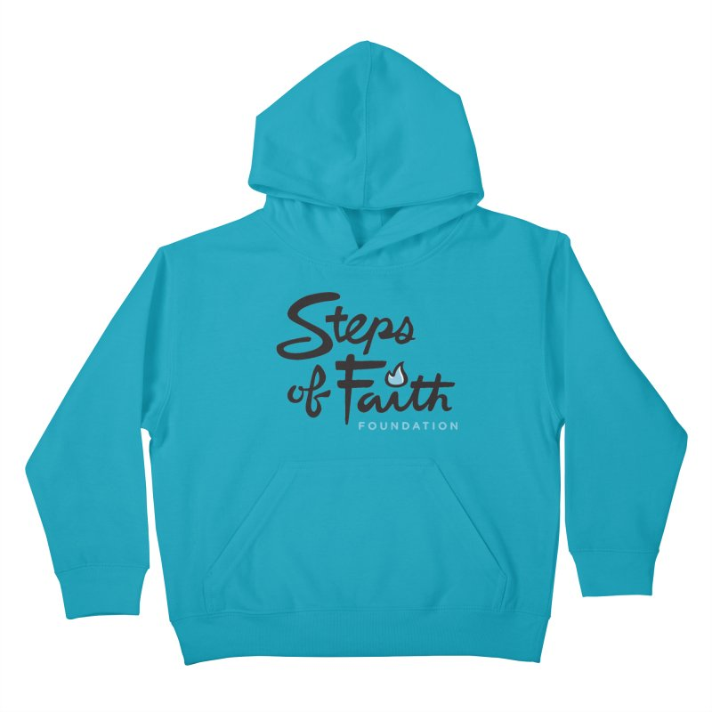 Steps of Faith Logo - Blue Kids Pullover Hoody by stepsoffaith's Artist Shop