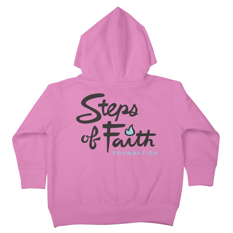 Steps of Faith Logo - Blue Kids Toddler Zip-Up Hoody by stepsoffaith's Artist Shop