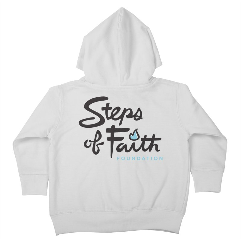 Steps of Faith Logo - Blue Kids Toddler Zip-Up Hoody by Steps of Faith