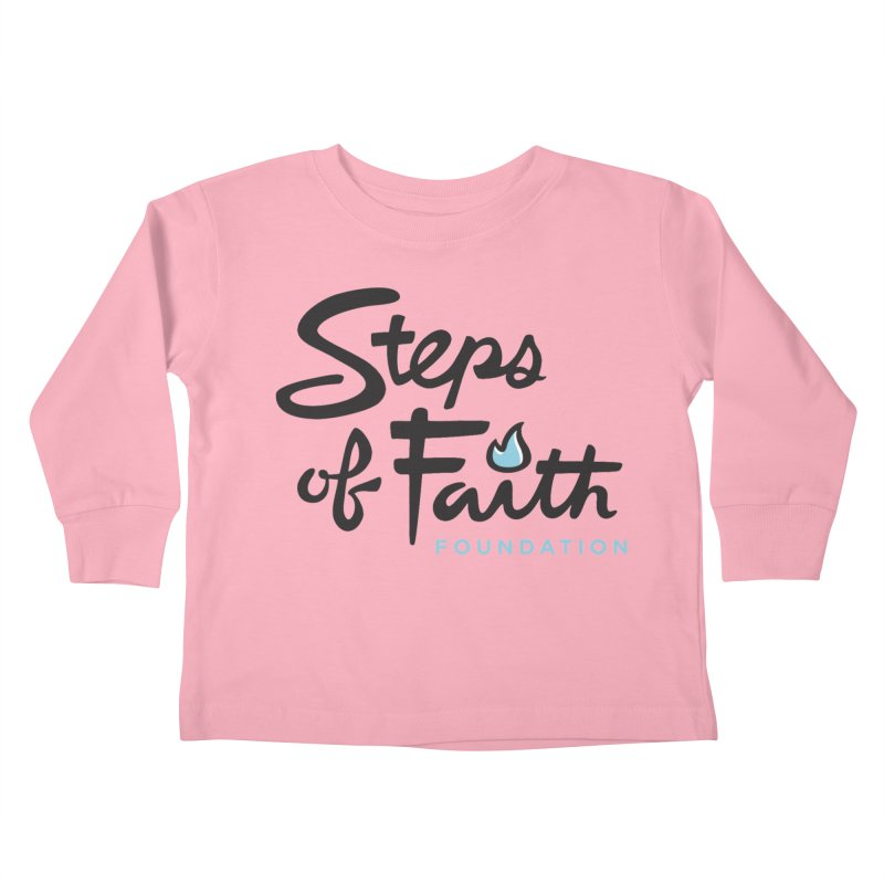 Steps of Faith Logo - Blue Kids Toddler Longsleeve T-Shirt by Steps of Faith