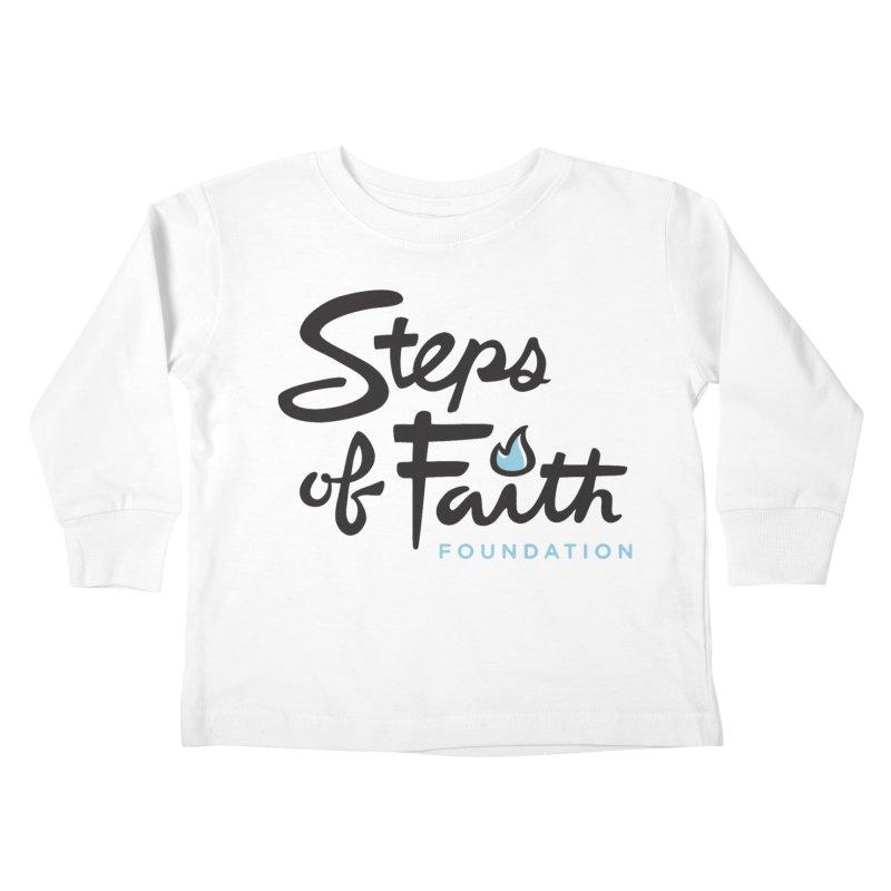 Steps of Faith Logo - Blue Kids Toddler Longsleeve T-Shirt by stepsoffaith's Artist Shop