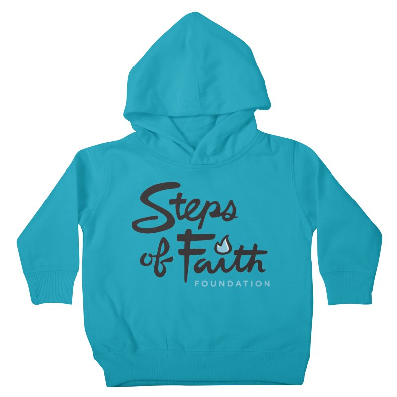 Steps of Faith Logo - Blue Kids Toddler Pullover Hoody by Steps of Faith