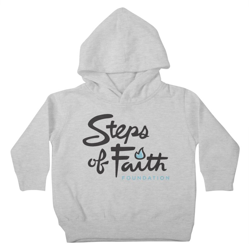 Steps of Faith Logo - Blue Kids Toddler Pullover Hoody by stepsoffaith's Artist Shop