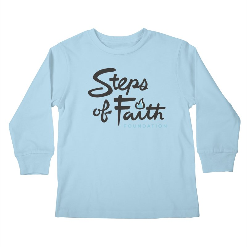 Steps of Faith Logo - Blue Kids Longsleeve T-Shirt by stepsoffaith's Artist Shop