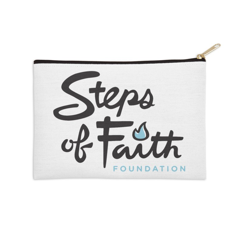 Steps of Faith Logo - Blue Accessories Zip Pouch by stepsoffaith's Artist Shop