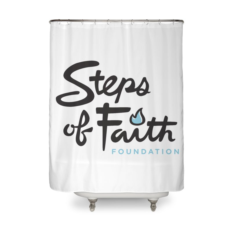 Steps of Faith Logo - Blue Home Shower Curtain by stepsoffaith's Artist Shop