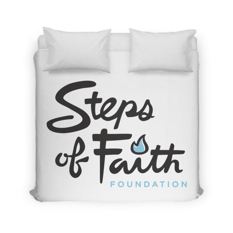 Steps of Faith Logo - Blue Home Duvet by stepsoffaith's Artist Shop