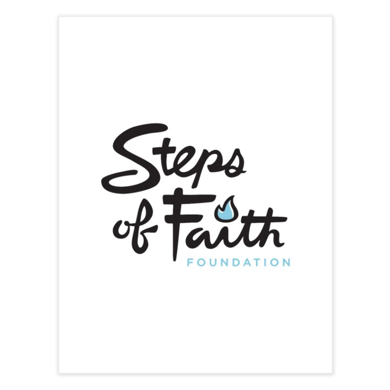 Steps of Faith Logo - Blue Home Fine Art Print by Steps of Faith