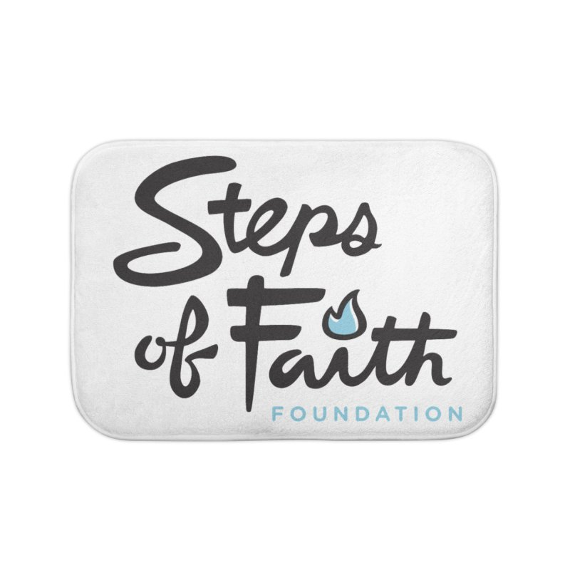 Steps of Faith Logo - Blue Home Bath Mat by stepsoffaith's Artist Shop
