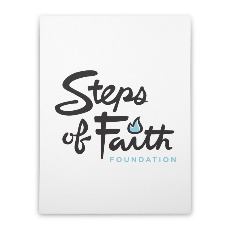 Steps of Faith Logo - Blue Home Stretched Canvas by Steps of Faith