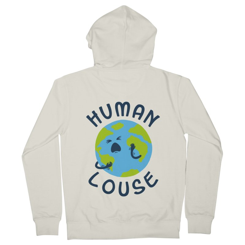 Human louse Men's Zip-Up Hoody by stereomode's Artist Shop