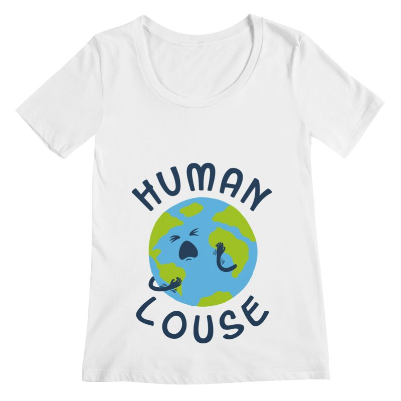 Human louse Women's Scoopneck by stereomode's Artist Shop