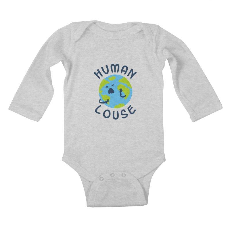 Human louse Kids Baby Longsleeve Bodysuit by stereomode's Artist Shop