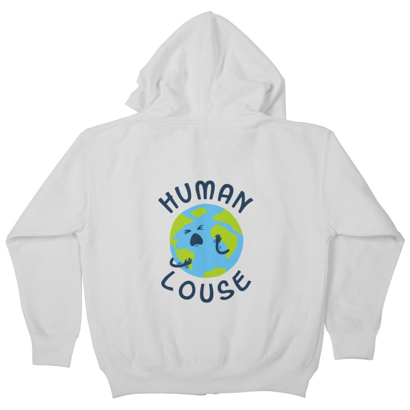 Human louse Kids Zip-Up Hoody by stereomode's Artist Shop