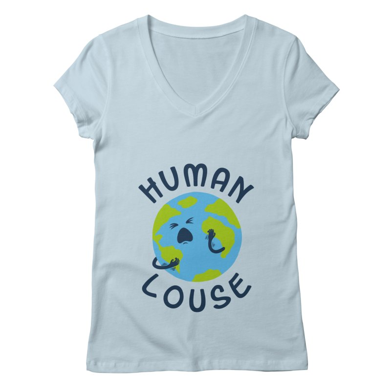 Human louse Women's V-Neck by stereomode's Artist Shop