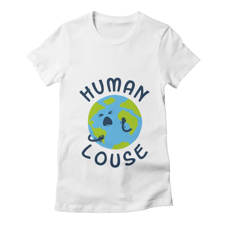 Human louse Women's Fitted T-Shirt by stereomode's Artist Shop