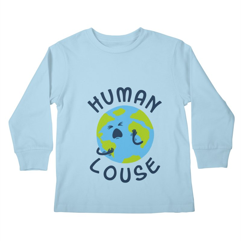 Human louse Kids Longsleeve T-Shirt by stereomode's Artist Shop