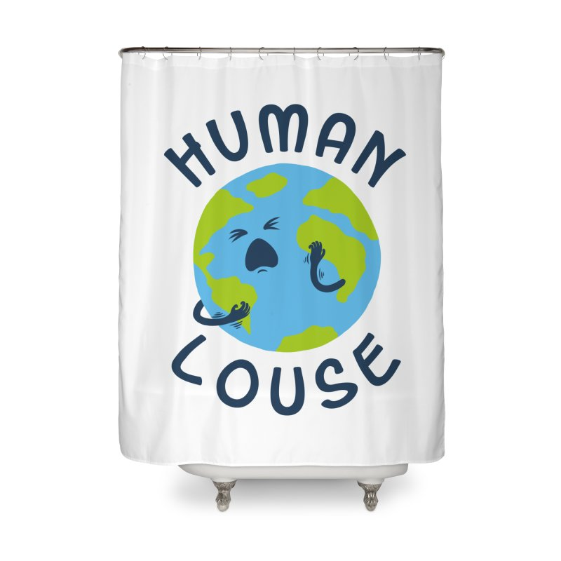 Human louse Home Shower Curtain by stereomode's Artist Shop